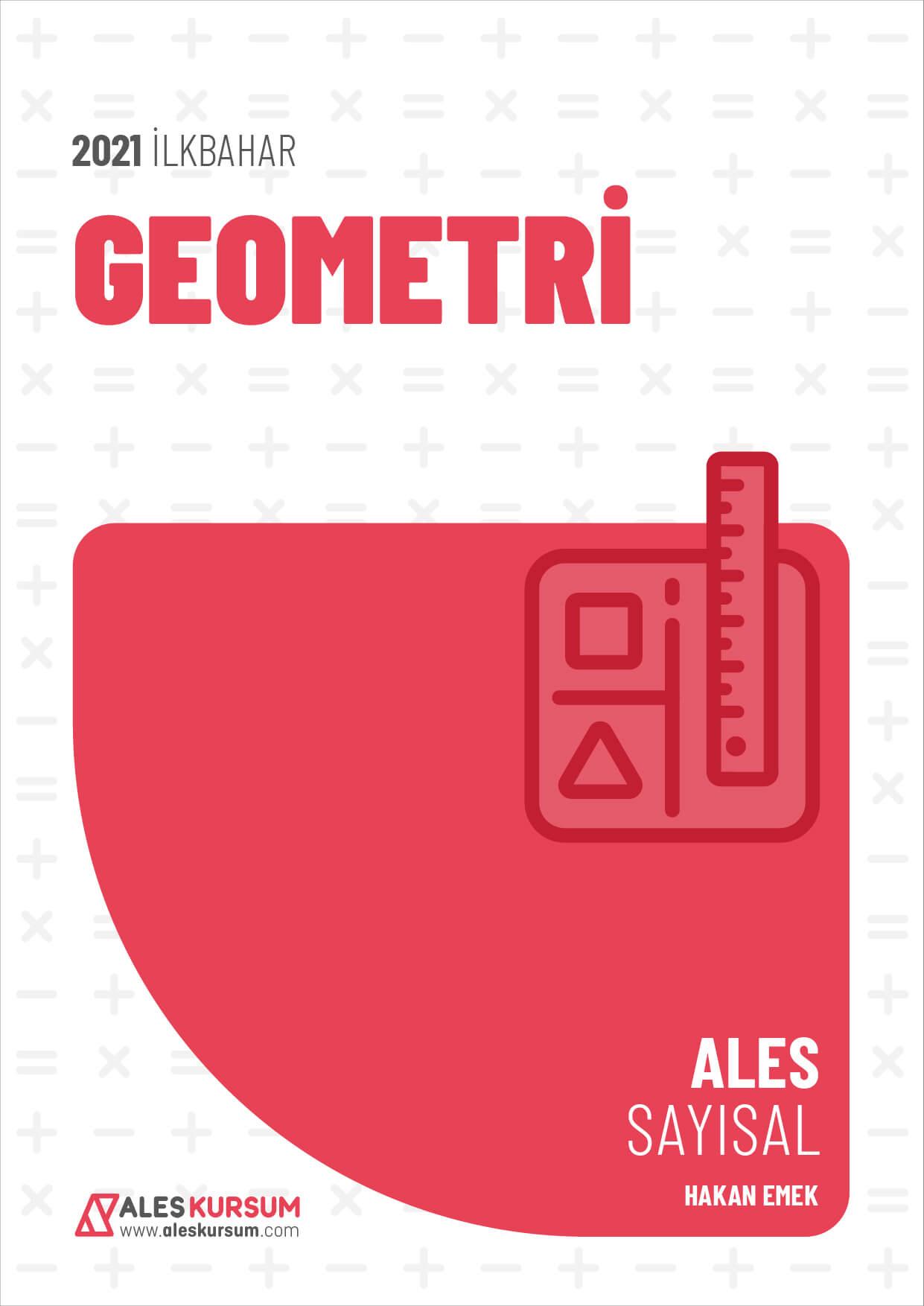 2021 İlkbahar ALES Geometri Ders Notu Hakan Emek