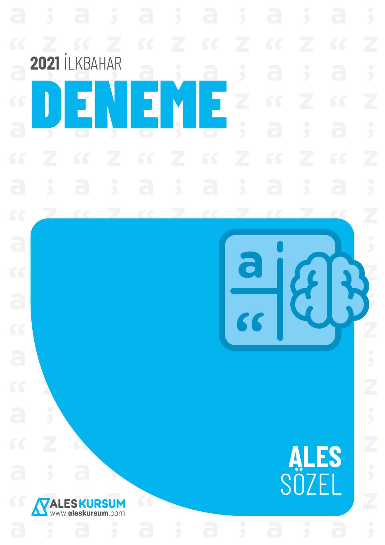 2021 İlkbahar ALES Sözel Deneme Ders Notu